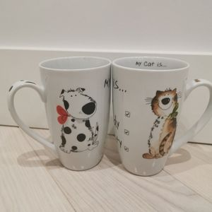 Galley by Inhesion Cat and Dog mugs